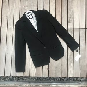 A NEW DAY Classic Black Blazer w Striped Interior